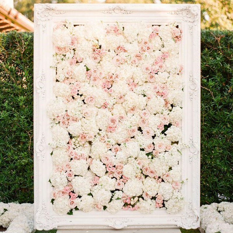 Picture Frame Floral Wall